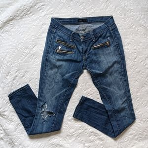 Work Custom Jeans Blue Distressed & Ripped
